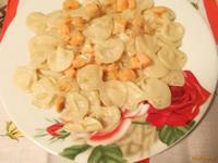 Рецепт Домашние бантики с луком и сёмгой рецепт с фото