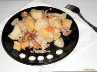 Рецепт Запеченный картофель с мясом и овощами рецепт с фото