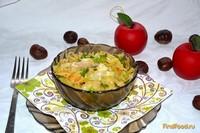 Рецепт Тушеная капуста с отварной курицей рецепт с фото