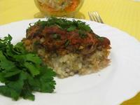 Рецепт Запеканка из риса с мясными шариками рецепт с фото
