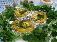 Рецепт Картофель запеченный с перепелиными яйцами рецепт с фото