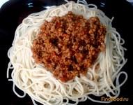 Рецепт Спагетти с соусом Болоньезе рецепт с фото