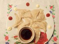 Рецепт Вареники картофельные с сёмгой и луком рецепт с фото