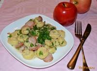 Рецепт Галушки по-польски с сосисками рецепт с фото