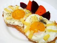 Рецепт Яичница с сыром рецепт с фото