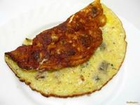 Рецепт Омлет с шампиньонами и сыром рецепт с фото