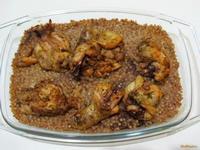 Рецепт Куриные ножки в духовке с гречкой рецепт с фото
