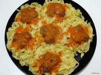 Рецепт Гнезда с мясными фрикадельками рецепт с фото
