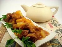 Рецепт Свинина в кисло-сладком соусе с ананасами рецепт с фото