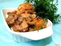 Рецепт Куриные крылышки в сметанно-горчичном соусе рецепт с фото