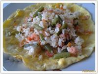 Рецепт Рис с креветками и омлетом рецепт с фото