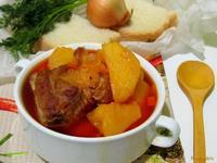 Рецепт Тушеная картошка с ребрышками рецепт с фото