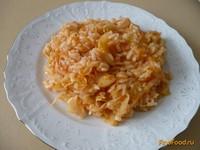 Рецепт Постный рис с тушеной капустой рецепт с фото