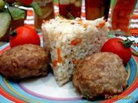 Рецепт Мини котлетки с рисовым гарниром рецепт с фото
