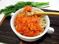 Рецепт Перловка с томатной подливой рецепт с фото