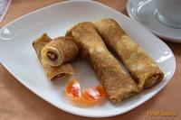 Рецепт Фруктовые блины с персиковым повидлом рецепт с фото
