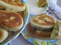 Рецепт Жаренные пирожки с картофелем и жаренным луком рецепт с фото