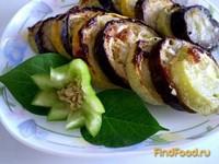 Рецепт Баклажаны и кабачки запеченные с чесноком рецепт с фото