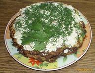 Рецепт Кабачковый торт с начинкой из крабовых палочек рецепт с фото