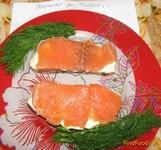 Рецепт Бутерброды с малосольной красной рыбой по-домашнему рецепт с фото