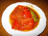 Рецепт Перец жареный в томатном соусе рецепт с фото