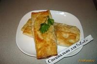 Рецепт Жареный лаваш с сыром и колбасой рецепт с фото