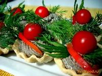 Рецепт Тарталетки с грибной начинкой рецепт с фото