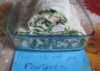 Рецепт Рулет из лаваша и крабовых палочек рецепт с фото