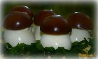 Рецепт Фаршированные Яичные грибочки рецепт с фото