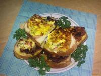 Рецепт Горячие бутерброды Сытный завтрак рецепт с фото