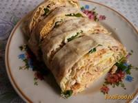Рецепт Рулет из лаваша с горбушей рецепт с фото