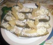 Рецепт Холодная закуска из маринованных огурцов рецепт с фото