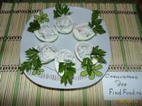 Рецепт Яйца фаршированные креветками рецепт с фото