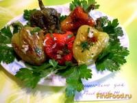 Рецепт Жареный болгарский перец с чесноком и зеленью рецепт с фото