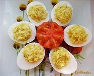 Рецепт Яйца фаршированные жареным луком рецепт с фото