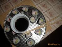Рецепт Роллы с крабовыми палочками и огурцом рецепт с фото