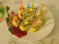 Рецепт Канапе с фруктами и батончиком рецепт с фото