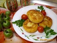 Рецепт Картофельные биточки с пшеном и сыром рецепт с фото