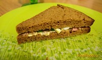 Рецепт Сэндвич с яйцом и печенью трески рецепт с фото