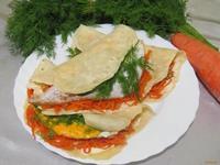 Рецепт Буррито с яйцами и корейской морковкой рецепт с фото