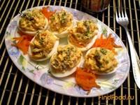 Рецепт Яйца фаршированные грибами и морковью рецепт с фото
