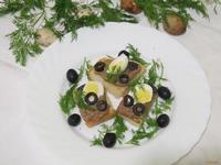 Рецепт Брускетта с печенью и перепелиными яйцами рецепт с фото