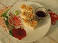 Рецепт Русский ролл с морковью и консервированной сельдью рецепт с фото