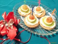 Рецепт Творожные канапе на печенье с фруктами рецепт с фото