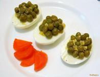 Рецепт Фаршированные яйца с зеленым горошком рецепт с фото