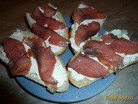 Рецепт Бутерброды с горбушей и сыр-кремом рецепт с фото