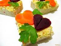 Рецепт Бутерброд с мягким сыром и маринованными овощами рецепт с фото