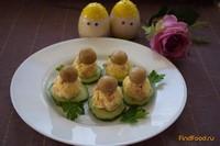 Рецепт Закусочное канапе на огурчиках рецепт с фото