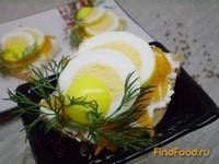 Рецепт Канапе с маринованными яйцами и морковью рецепт с фото