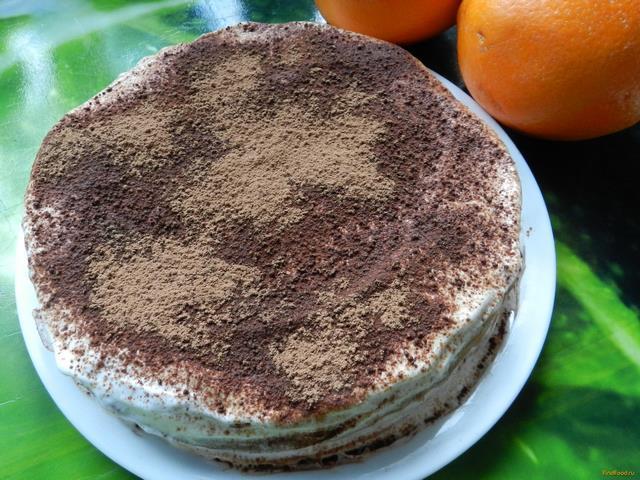 Рецепт Банановый блинный торт рецепт с фото